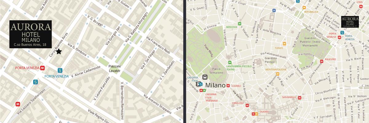 Dove siamo hotel aurora milano - Milano porta garibaldi passante mappa ...
